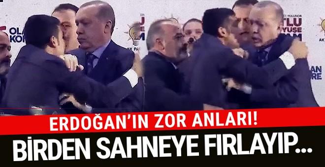 Erdoğan'ın üzerine atlayan vatandaş ortalığı karıştırdı