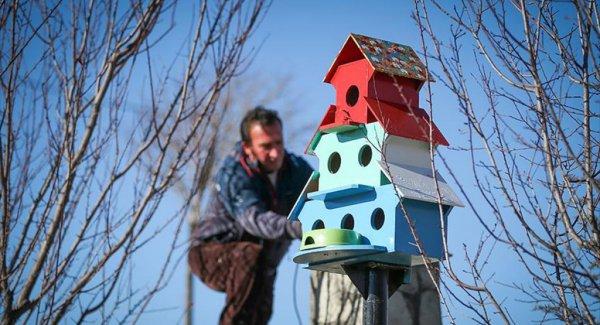 İlçenin Her Yanını Kuş Yuvalarıyla Donattılar