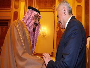 Başbakan Yıldırım Suudi Arabistan Kralı Selman İle Görüştü