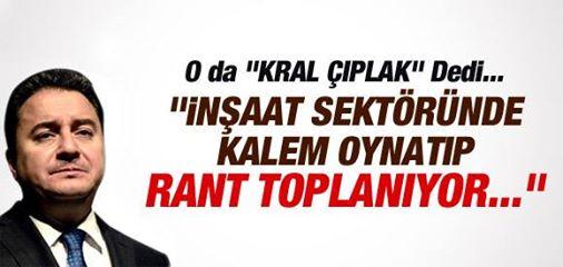 BABACAN: KALEM OYNATIP RANT TOPLANIYOR.!