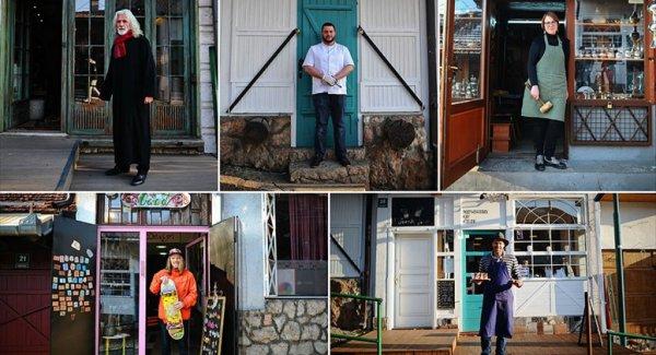Saraybosna'daki Tarihi Sokağın 'Fantastik Beşlisi'
