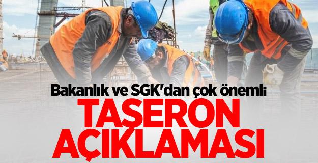 Bakanlık ve SGK'dan çok önemli taşeron açıklaması!
