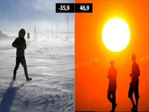 2017'nin Soğuk Rekoru Eksi 35,9, Sıcak Rekoru 46,9 Derece