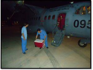 Hava Kuvvetleri Organ Taşıdı