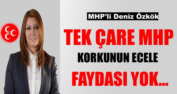 MHP'Lİ DENİZ ÖZKÖK TEK ÇARE MHP ; KORKUNUN ECELE FAYDASI YOK