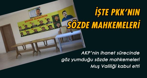 Muş Valiliği Doğruladı: İşte PKK'nın Sözde Mahkemeleri