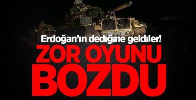 Erdoğan'ın dediğine geldiler! Zor oyunu bozdu