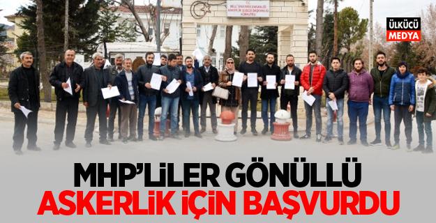 MHP'liler Gönüllü Askerlik İçin Başvurdu
