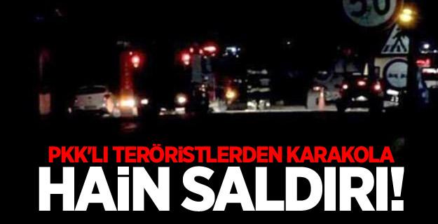 Adana'da karakola hain saldırı