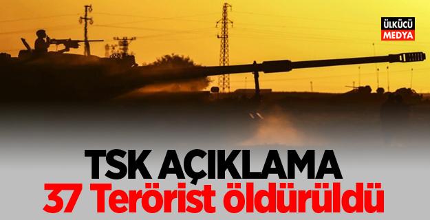 TSK'dan son dakika açıklaması! 37 Terörist öldürüldü