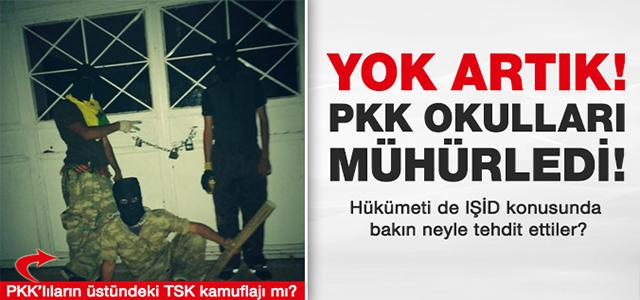 İŞTE AKP'NİN YENİ TÜRKİYE'Sİ PKK OKULLARA KİLİT VURDU !