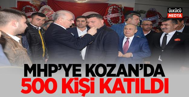 MHP'ye Kozan'da 500 kişi katıldı