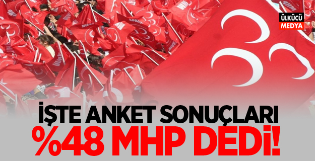 İŞTE SON ANKET SONUÇLARI: %48 MHP DEDİ!