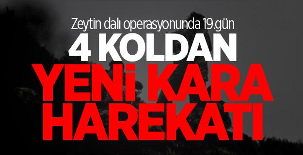 Mehmetçik O Bölgeye 4 Koldan Kara Harekâtı Başlattı