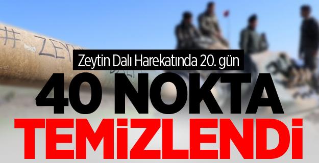 Zeytin Dalı'nda 20'nci Gün: 40 Nokta Temizlendi