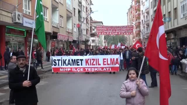MHP'liler  Afrin Operasyonuna Destek İçin Yürüdü