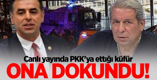 Canlı yayında PKK'ya ettiği küfür ona dokundu!