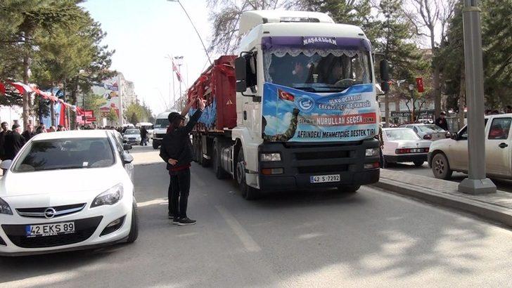 Ereğli Ülkü Ocaklarından Afrin'e yardım tırı gönderildi