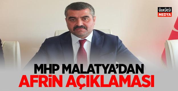 MHP Malatya'dan Afrin açıklaması