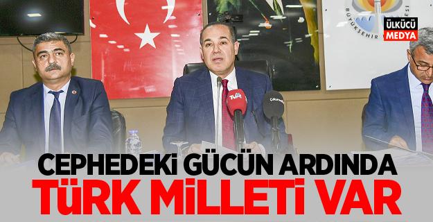 """Hüseyin Sözlü: """"Cephedeki Gücün Ardında Türk Milleti Var"""""""