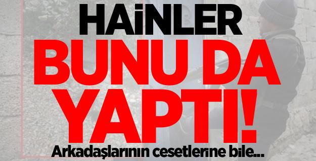 PKK'lı hainler bunu da yaptı! Arkadaşlarının cesetlerine bile...