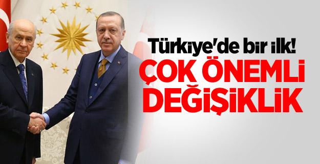 Türkiye'de bir ilk! Çok önemli değişiklik