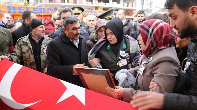 Afrin şehidi Samsun'da toprağa verildi