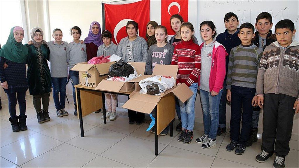 Ahıskalı Öğrencilerden Mehmetçik'e Destek