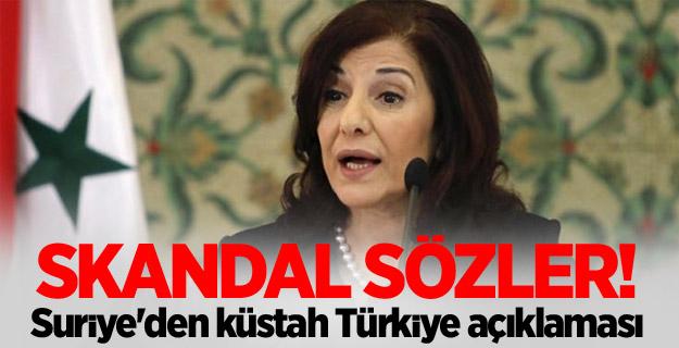 Skandal sözler! Suriye'den küstah Türkiye açıklaması