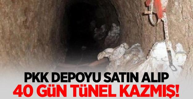 PKK depoyu satın alıp 40 gün tünel kazmış!