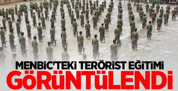 Menbic'teki terörist eğitimi görüntülendi