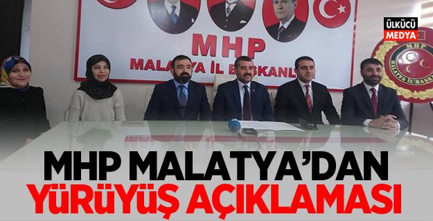 MHP Malatya'dan Yürüyüş Açıklaması
