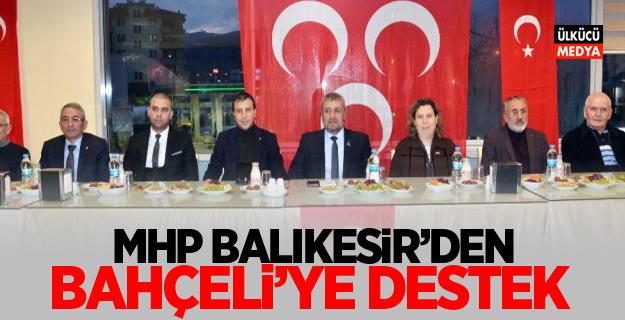 MHP Balıkesir'den Bahçeli'ye Destek
