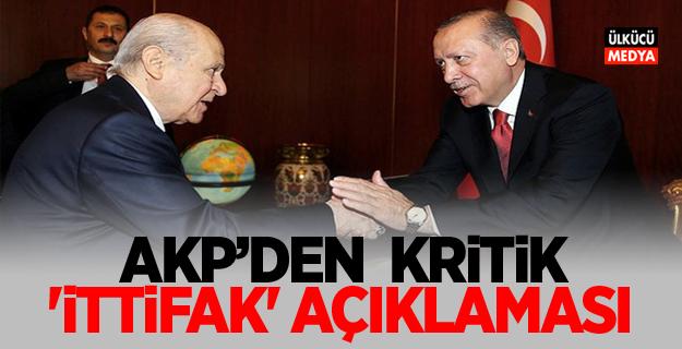 AKP'den kritik 'ittifak' açıklaması
