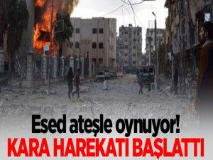 Esad Doğu Guta'ya Kara Harekatı Başlattı