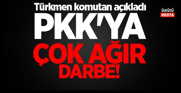 Afrin'de PKK'ya darbe! Türkmen komutan açıkladı