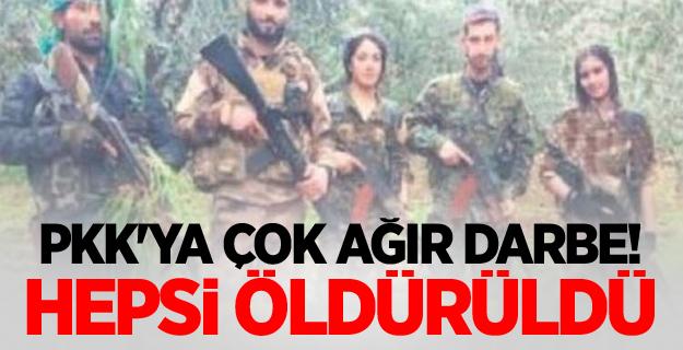 PKK'ya çok ağır darbe! Hepsi öldürüldü