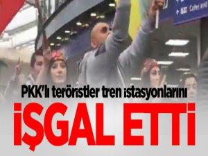 PKK/PYD Yandaşları İngiltere'de Tren İstasyonlarını İşgal Etti
