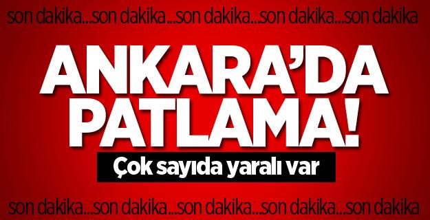 Ankara'da korkunç patlama! Çok sayıda yaralı var