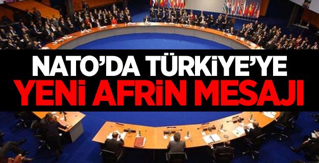 NATO'da Türkiye'ye yeni Afrin mesajı
