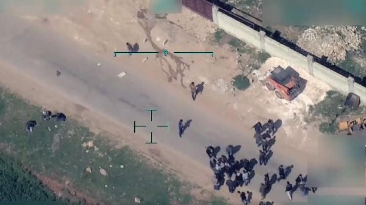 Afrin'de YPG çıldırdı! Şoke eden yeni görüntüler!