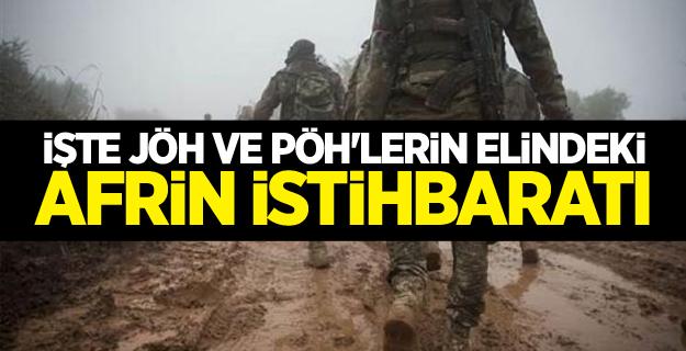 İşte JÖH ve PÖH'lerin elindeki Afrin istihbaratı