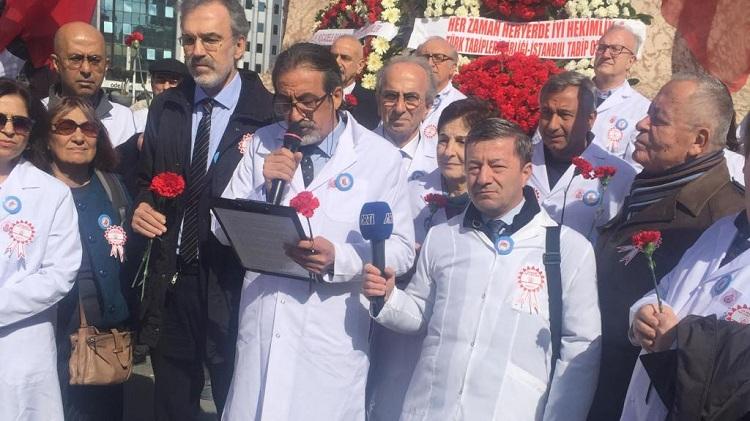 PKK destekçisi Türk Tabipler Birliği İstiklal Marşı'nı okutmadı!