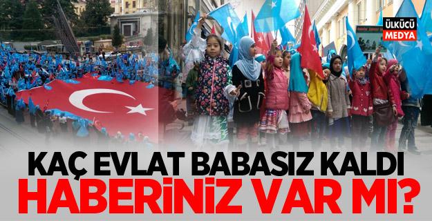Doğu Türkistanlı yüzlerce kadın ve çocuk İstiklal Caddesi'nde yürüdü!