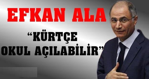 Akp'li Efkan Ala Kürtçe Okul Açılabilir !