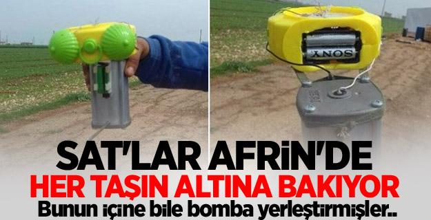 Afrin'den kaçan teröristlerin tuzakladığı patlayıcılar