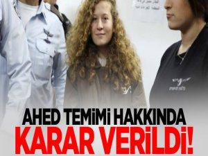 Filistinli Cesur Kız Ahed Temimi'nin Cezası Belli Oldu