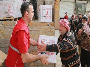 Türk Kızılayından Afrin Kırsalına İnsani Yardım