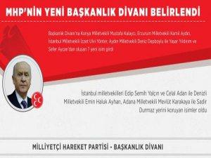 İşte MHP'nin yeni Başkanlık Divanı