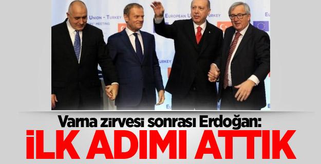 """Cumhurbaşkanı Erdoğan, """"Erdoğan: İlk adımı attık"""""""